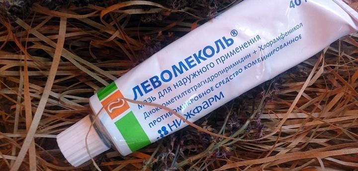 Левомеколь предназначен для устранения гнойный воспалений