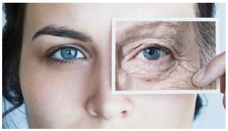 Старение проявляется на лице