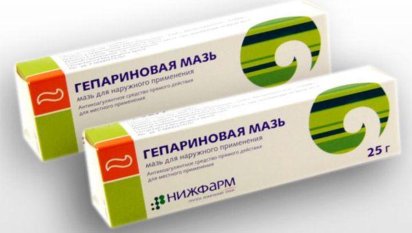 Гепариновая мазь эффективно устраняет отёки