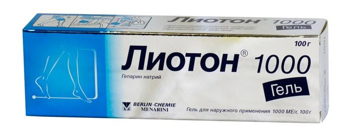 Гепарин - основа Лиотона 1000