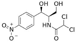 Химическая и структурная формула левомицетина