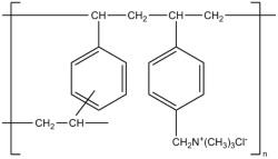 Химическая и структурная формула колестирамина
