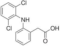 Химическая формула Диклофенака