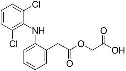 Структурная и химическая формула диклофенака