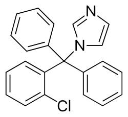Клотримазол - химическая формула