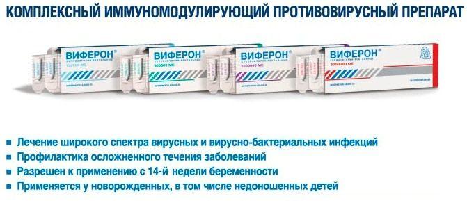 Виферон – представитель МИБП-цитокинов