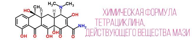 Тетрациклин - главное действующее вещество линимент