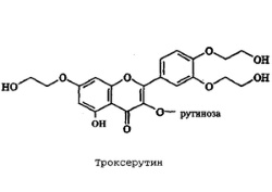 Троксерутин - главный действующий элемент препарата