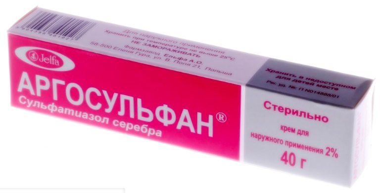 Мазь Аргосульфан - антибактериальный препарат широкого спектра действия