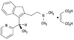 Малеат диметиндена: химическая и структурная формула вещества
