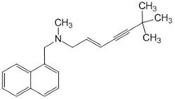 Химическая и структурная формула Тербинафина