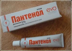 Кремовая форма Пантенола применяют для лечения сухой кожи