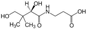 Химическая и структурная формула пантотеновой кислоты