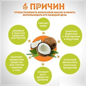 Кокосовое масло используют для ухода за кожей тела, омоложения и восстановления