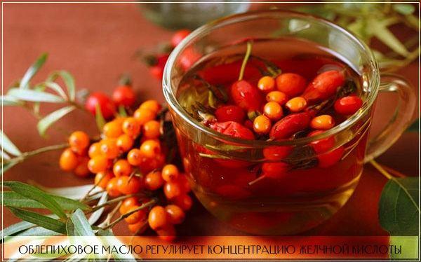 Для лечения печени назначают вытяжку из ягод облепихи