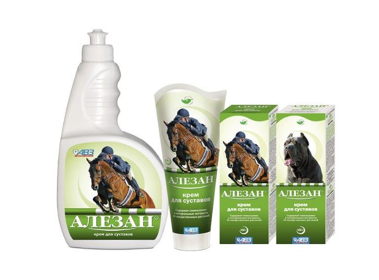 Мазь Алезан - ветеринарное средство для устранения болей в суставах