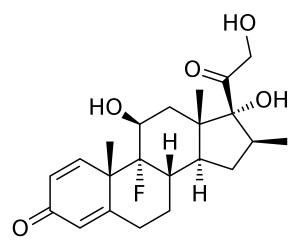 Химическая и структурная формула Бетаметазона