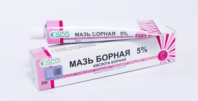 Борная мазь - действенное антисептическое средств