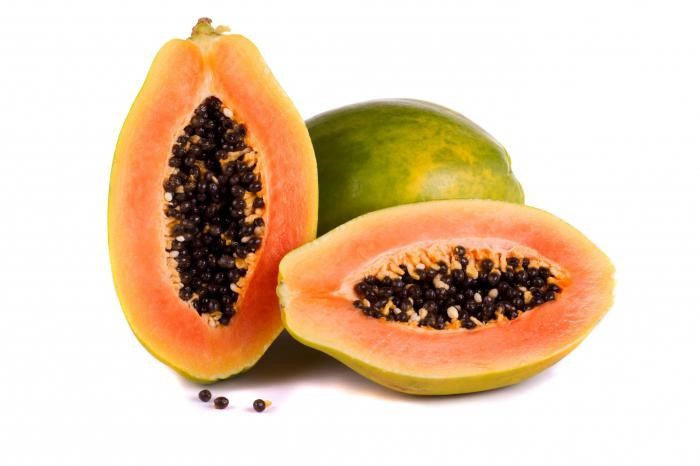 Активный компонент мази - млечный сок папайи