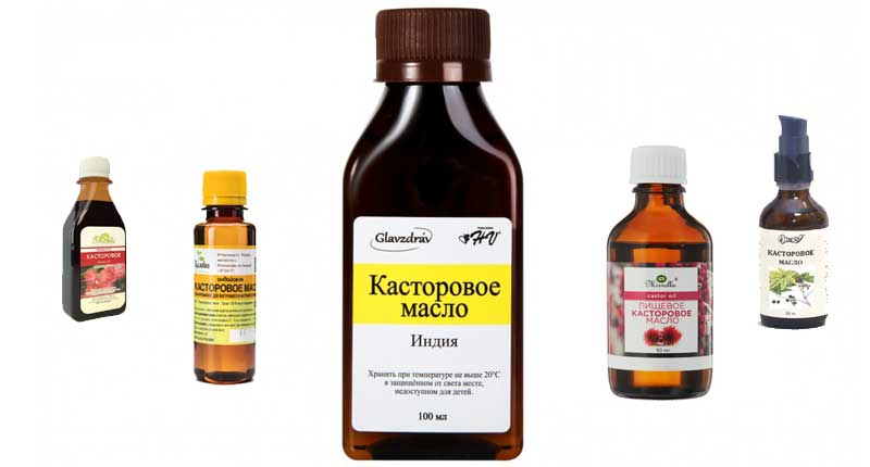 Касторовое масло различных производителей