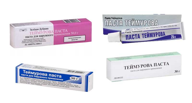 Паста Теймурова в разных упаковках