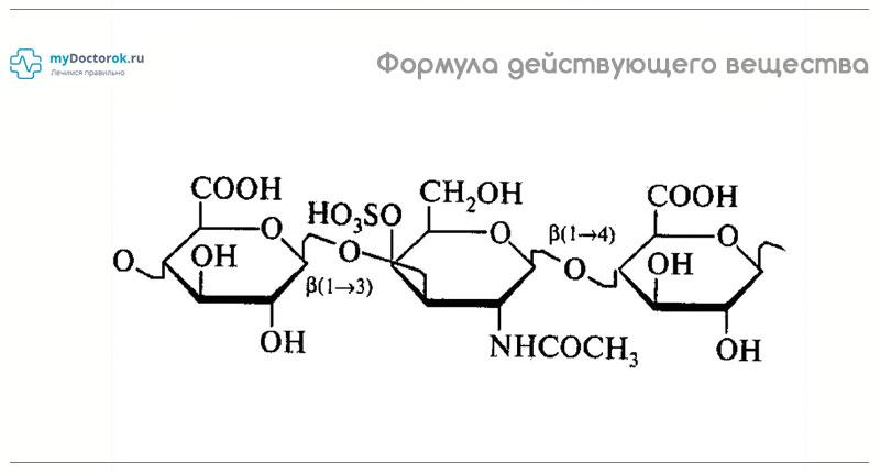 Действующее вещество - сульфат хондроитина