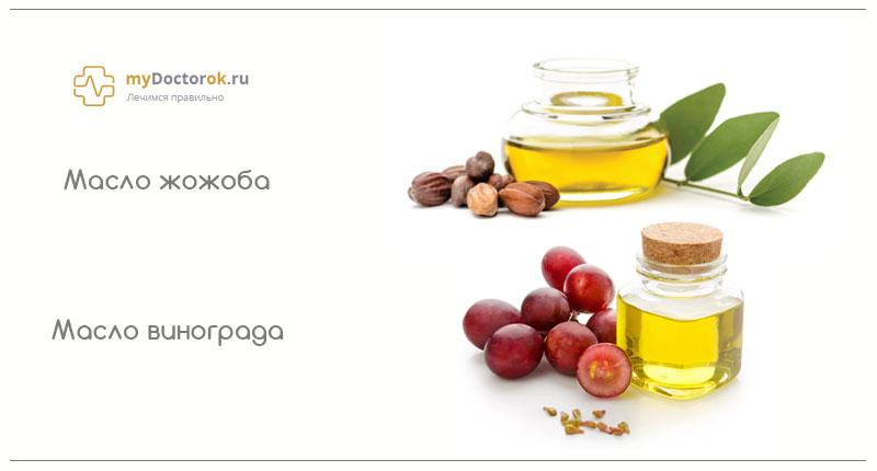Рецепт из масле жожоба и винограда