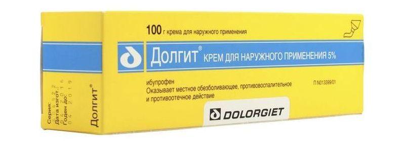 Основной ингредиент крема Долгит - это Ибупрофен
